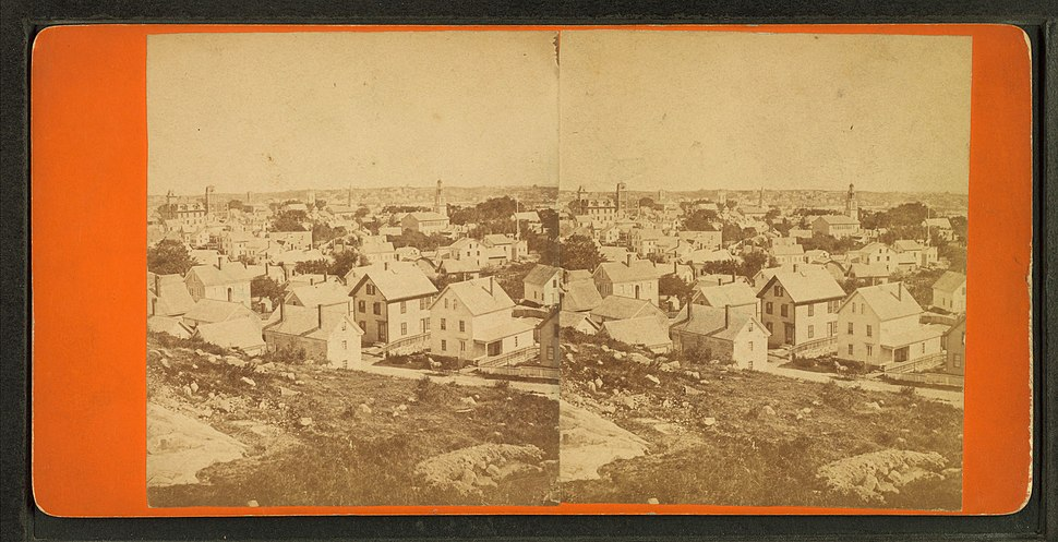 General view of Boston, by J. J. Hawes