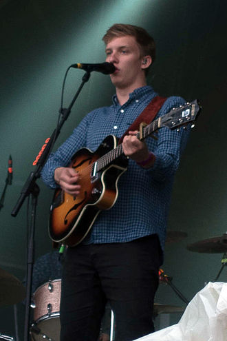 Brit Awards - Image: George Ezra at Glastonbury Abbey 2014