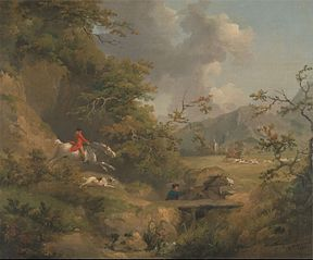 Foxhunting in Hilly Country