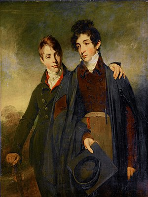 George Soane - George Soane (left) with his elder brother John, 1805 portrait by William Owen