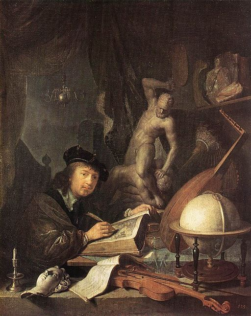 """Painter in his Studio"" by Gerrit Dou"