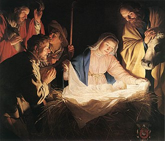 Gerard van Honthorst - Image: Gerard van Honthorst Adoration of the Shepherds WGA11657