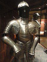 German Three-Quarter Armour for battle, Nuremberg, c. 1620 - Royal Ontario Museum - DSC09472.JPG