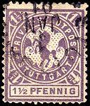 Germany Stuttgart 1887 local stamp 1.5pf - 6b used.jpg