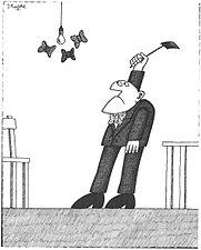 Geschlossene Gesellschaft, Cartoon, Joachim Kupke, 1983.jpg