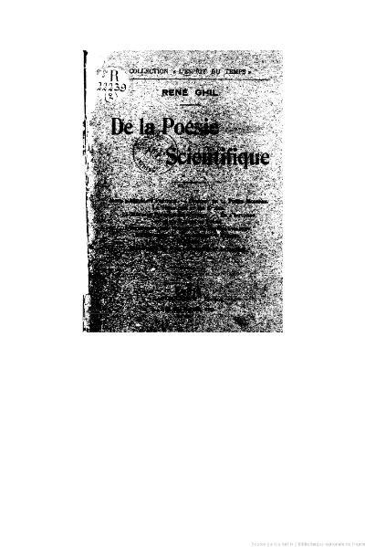 File:Ghil - De la poésie scientifique, 1909.djvu