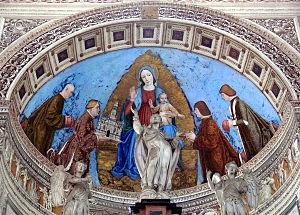 Gian Galeazzo Visconti - Image: Gian Galeazzo dona alla Madonna la Certosa