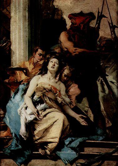 """""""Martelaarschap van de heilige Agatha"""", door Giovanni Battista Tiepolo (ca 1756)."""