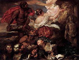 Giovanni Benedetto Castiglione - Pyrrha and Deucalion - WGA4550
