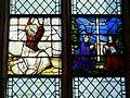 Gisors (27), collégiale St-Gervais-et-St-Protais, collatéral sud, verrière n° 18 - donateurs, Transfiguration 3.jpg