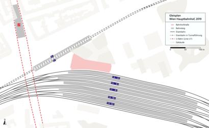 So kommt man zu dem Wien Hauptbahnhof mit den Öffentlichen - Mehr zum Ort Hier