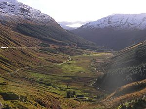 A83 road - Image: Glen Croe, viewed from Rest and Be Thankful (RLH) 2006 11 18