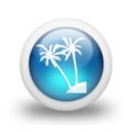 Glossy 3d blue palmtree double.png