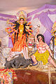 Goddess Durga, fighting Mahishasura, the buffalo-demon (Hindu Mythology) 6964.JPG