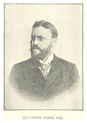 Adolf Goerz - Image: Goerz, Adolf (Esquire)