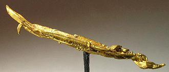 """Douglas County, Oregon - A gold """"needle"""" from the Bohemia District in Douglas County"""