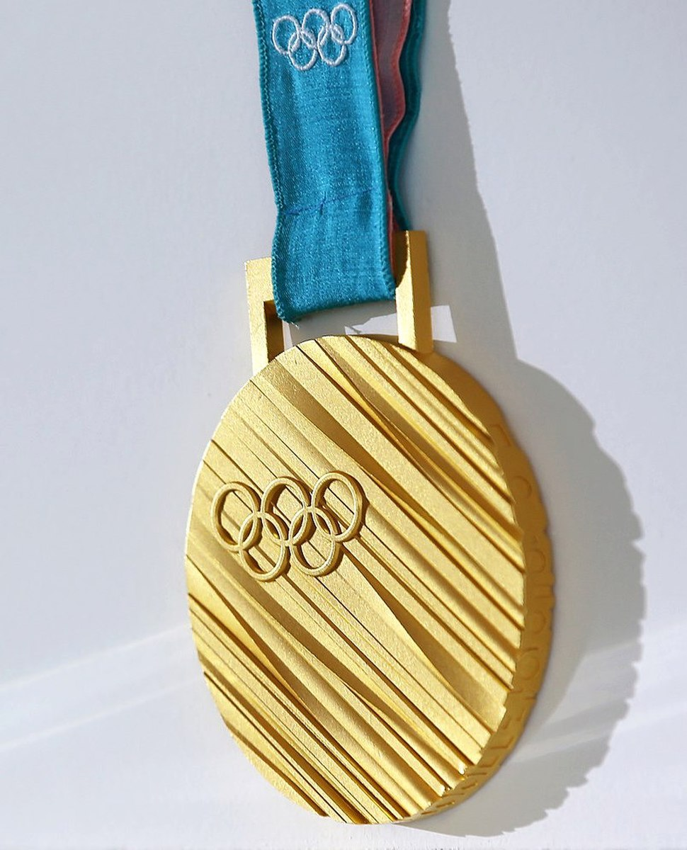 Gold medal of the 2018 Winter Olympics in in Pyeongchang.jpg