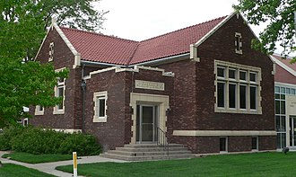 National Register of Historic Places listings in Dawson County, Nebraska - Image: Gothenburg Carnegie library from SE 2