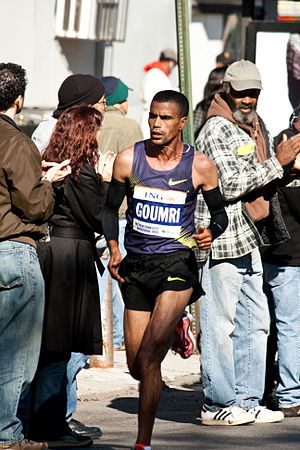 Abderrahim Goumri - Goumri running at the 2010 New York City Marathon
