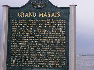 Grand Marais, Michigan - Grand Marais, Michigan historic marker