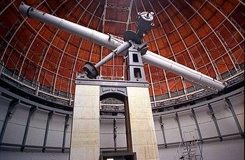 La grande lunette de l'Observatoire de Nice.