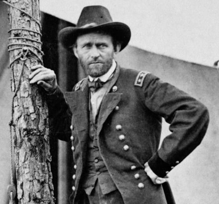 Commanding General Grant at the Battle of Cold Harbor. Egbert Guy Fowx June 1864 Grant crop of Cold Harbor photo.png