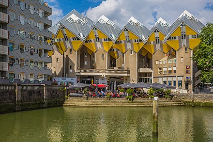 Cube houses in the Netherlands, designed for Rotterdam