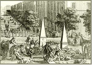 Great Plague of Marseille - Contemporary engraving of Marseille during the Great Plague