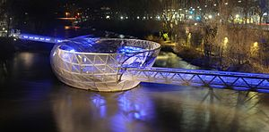 Vito Acconci - Murinsel (in the night) in Graz, Austria