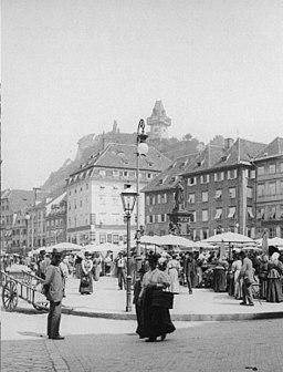 Graz Hauptplatz - Blick zum Schloßberg - 1898