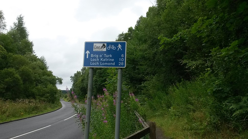 Great trossachs path signage