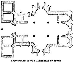 Ground-Plan of The Cathedral of Cutais. John M. Neale. A history of the Holy Eastern Church. P.268.jpg