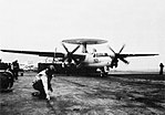 Grumman E-2B Hawkeye of VAW-125 is launched from USS John F. Kennedy (CVA-67), circa in 1970.jpg