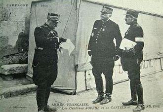 Joseph Joffre - Image: Guerre 14 18 Généraux Joffre et de Castelnau 1914