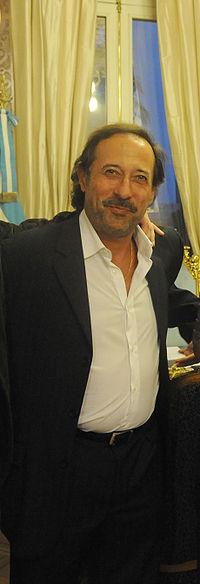 Guillermo en la Casa Rosada el 18 de marzo de 2010, durante la recepción del equipo de El secreto de sus ojos.