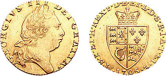 "Guinea (coin) - George III, ""Spade"" issue, 1795"