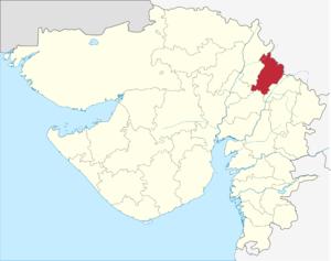Aravalli district - Image: Gujarat Aravalli district locator map