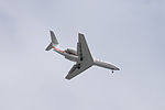 Gulfstream G450 N818KE on Final Approach at Taipei Songshan Airport 20150201a.jpg