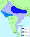Gupta Empire expansion from 320 CE to 550 CE.