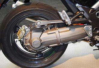 Swingarm - Moto Guzzi's CRDS variant of the parallelogram