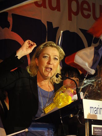 Marine Le Pen - Marine Le Pen during her presidential campaign, on 15 April 2012