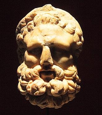 Museo de Málaga - Hercules'mask, 1st century.