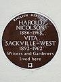 HAROLD NICOLSON 1886-1968 VITA SACKVILLE-WEST 1892-1962 Writers and Gardeners lived here.JPG