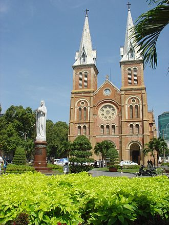 Religion in Vietnam - Notre Dame Cathedral in Ho Chi Minh City, Vietnam.