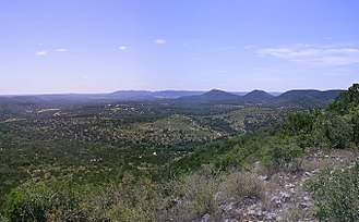 Texas Hill Country - View from Hill Country State Natural Area in Bandera County