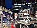 HK CWB 銅鑼灣 Causeway Bay 恩平道 Yun Ping Road 利園5期 Lee Garden Five Cartier store Hysan Avenue night April 2021 SS2.jpg