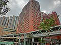 HK Hung Hom South Road 紅磡南道 Hung Lai Road footbridge view HKPolyU HKCC Halls of Residence n Harbour Place Mar-2013.JPG
