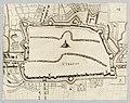 HUA-214023-Plattegrond van de stad Utrecht met directe omgeving; met weergave van de verdedigingswerken en gestileerde weergave van de bebouwing en het grondgebr.jpg