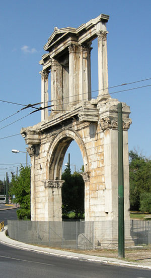 Arch of Hadrian (Athens) - 3/4 view