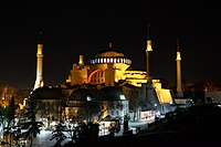 Hagia Sophia, view at night.jpg